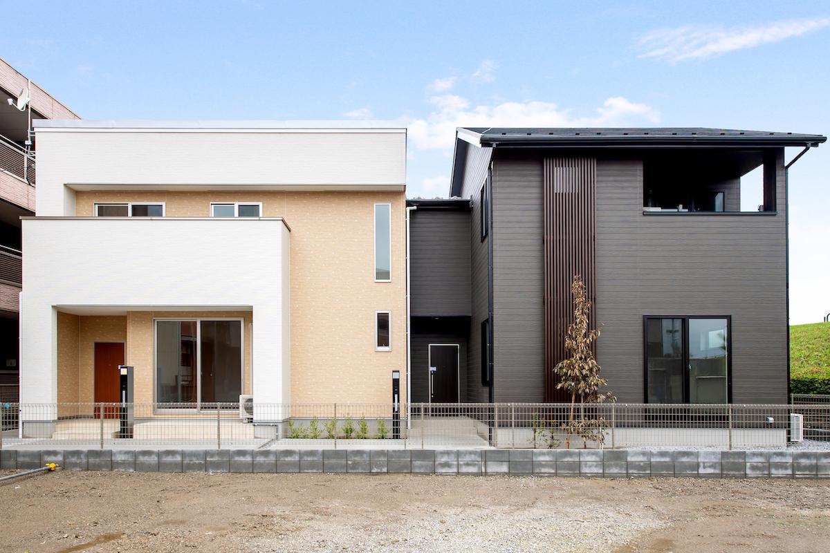 シンプルモダンと和モダンに分け、独立した建物のように設計